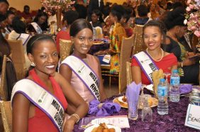 Cross Session of Contestants for the Miss University Africa at the State Dinner organised in their honour at the Government House Port Harcourt on Friday.